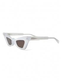 Kuboraum Y7 PL occhiali a gatto color perla lenti marroni