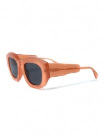 Kuboraum B5 grapefruit sunglasses with grey lenses