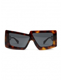 Kuboraum X10 Havana occhiali da sole oversize quadrati asimmetrici online