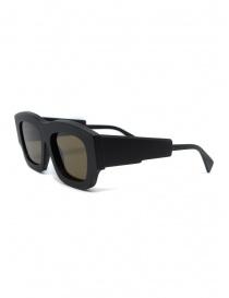 Kuboraum matte black sunglasses C8 54-21 with brown lenses