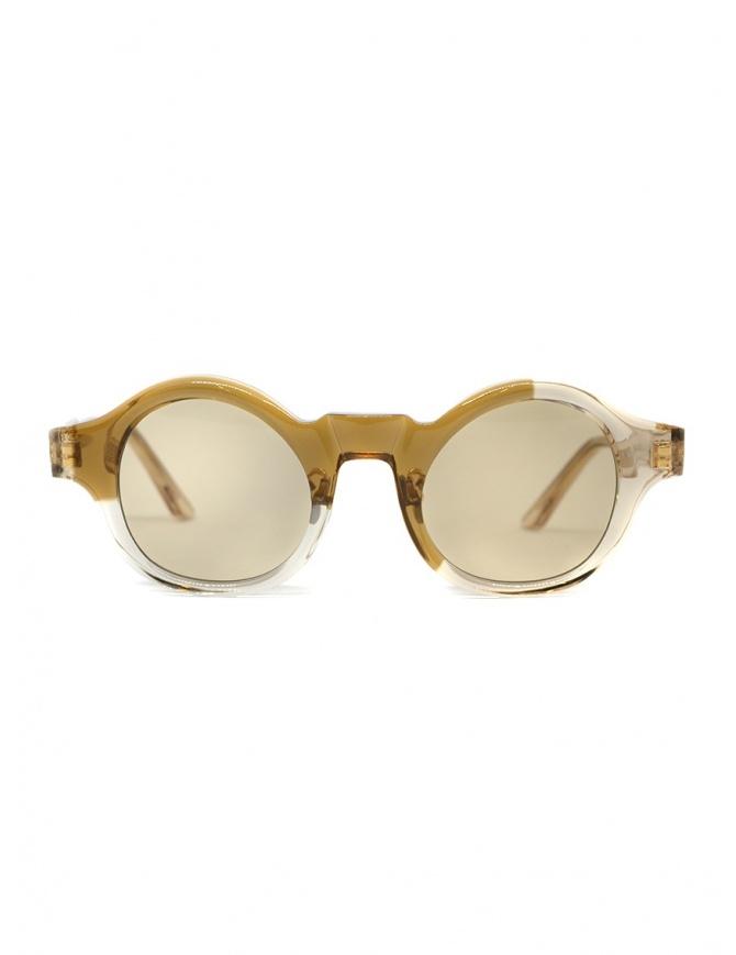 Kuboraum L4 sunglasses transparent sand color with light brown lenses L4 46-24 INCA glasses online shopping