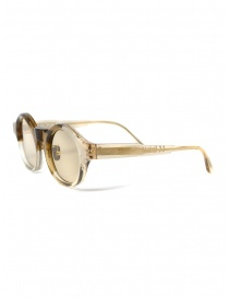 Kuboraum L4 sunglasses transparent sand color with light brown lenses
