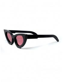 Kuboraum Y7 cat-eye sunglasses with pink lenses