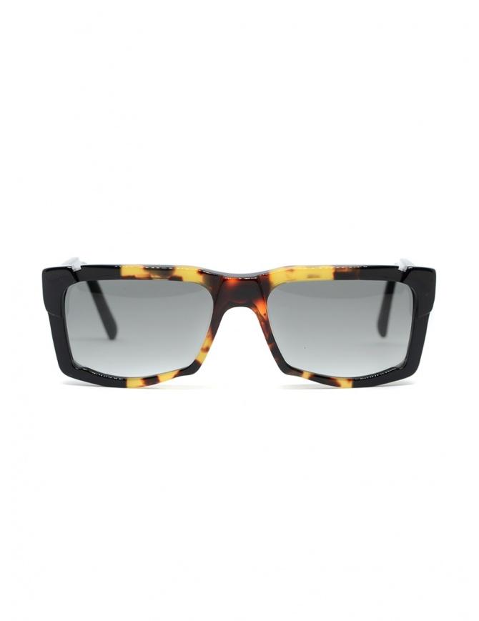Kuboraum K22 occhiali da sole rettangolari tartarugati lenti grigie K22 55-18 HHDS GREY occhiali online shopping