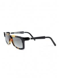 Kuboraum K22 occhiali da sole rettangolari tartarugati lenti grigie