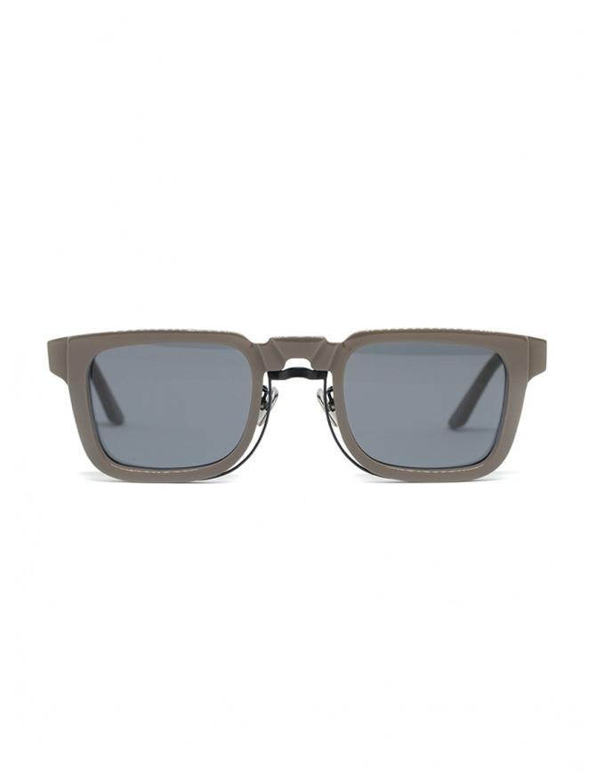 Kuboraum N4 grey square sunglasses with grey lenses N4 48-25 WG 2GRAY glasses online shopping