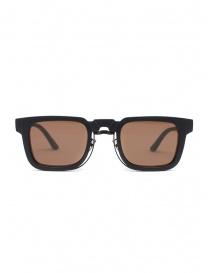 Kuboraum N4 black sunglasses with brown lenses online