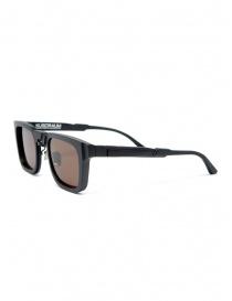 Kuboraum N4 black sunglasses with brown lenses