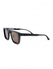 Kuboraum N4 occhiali da sole neri lenti marroni