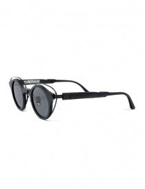 Kuboraum N10 occhiali da sole rotondi con lenti grigie