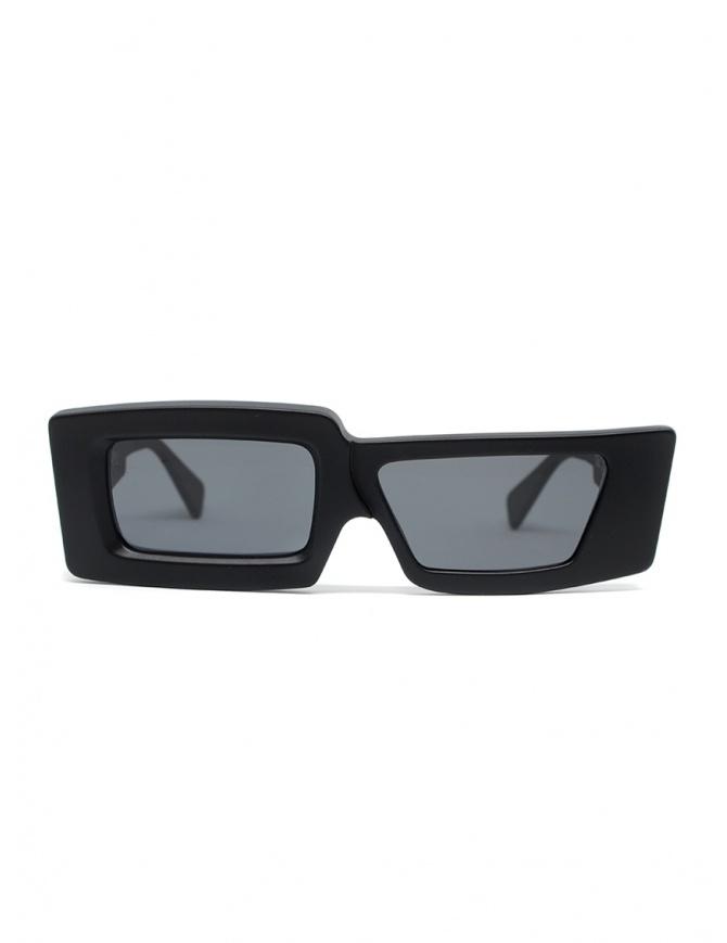 Kuboraum X11 occhiali da sole rettangolari asimmetrici neri X11 99-01 BMS 2GRAY occhiali online shopping