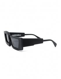 Kuboraum X11 black asymmetrical rectangular sunglasses