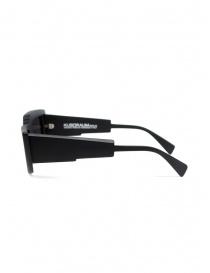 Kuboraum X11 black asymmetrical rectangular sunglasses price