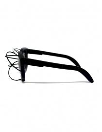 Kuboraum sunglasses B2 49-25 black glasses with metal rims price