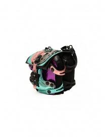 Innerraum borsetta metallizzata a tracolla rosa, viola, pavone