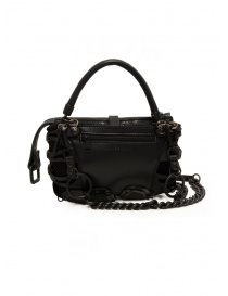 Innerraum black shoulder bag in leather, rubber and mesh price