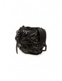 Innerraum black shoulder bag in leather, rubber and mesh bags buy online