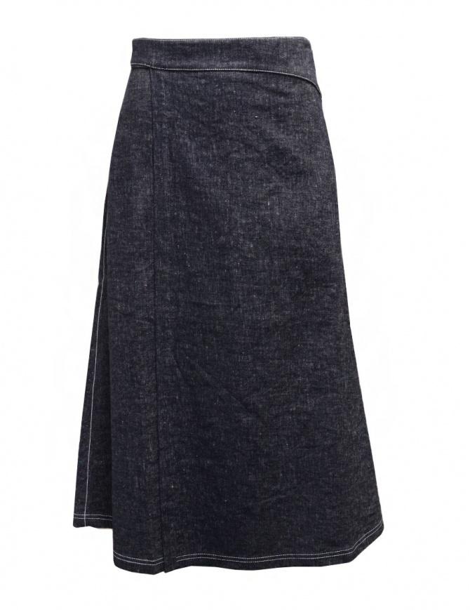 Sara Lanzi pareo denim wrap skirt 04C.CLE1.88 DENIM womens skirts online shopping
