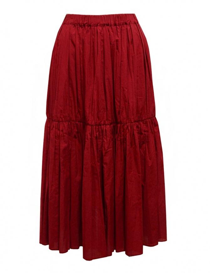 Sara Lanzi gonna rossa arricciata a pieghe 04E.CO2.05 RED gonne donna online shopping
