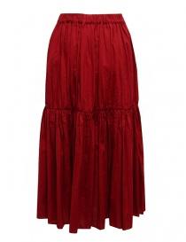 Sara Lanzi red pleated gathered skirt