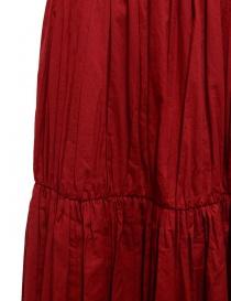 Sara Lanzi red pleated gathered skirt price