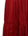 Sara Lanzi red pleated gathered skirt 04E.CO2.05 RED price