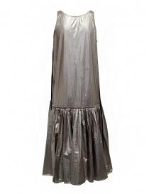 Sara Lanzi vestito a canotta lungo argentato