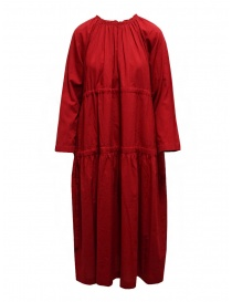 Womens dresses online: Sara Lanzi red long dress with double drawstring