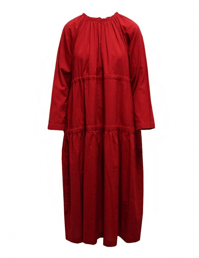 Sara Lanzi red long dress with double drawstring 02E.CO2.05 RED womens dresses online shopping