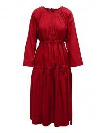 Sara Lanzi red long dress with double drawstring