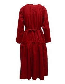 Sara Lanzi red long dress with double drawstring womens dresses buy online