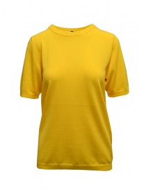 Sara Lanzi t-shirt in maglia di cotone gialla online