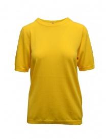 Sara Lanzi yellow cotton knit t-shirt online