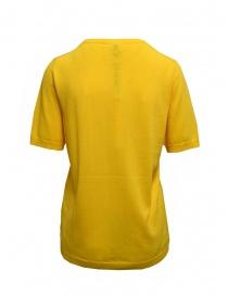 Sara Lanzi t-shirt in maglia di cotone gialla