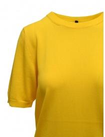 Sara Lanzi yellow cotton knit t-shirt price