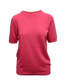 Sara Lanzi t-shirt in maglia di cotone rosa fucsia online