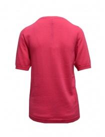 Sara Lanzi fuchsia pink cotton knit t-shirt