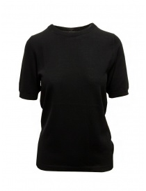 Sara Lanzi T-shirt in maglia di cotone nera online