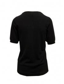 Sara Lanzi T-shirt in maglia di cotone nera