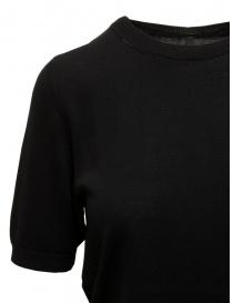 Sara Lanzi black cotton knit T-shirt price