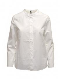 Camicie donna online: Sara Lanzi camicia bianca con colletto alla coreana
