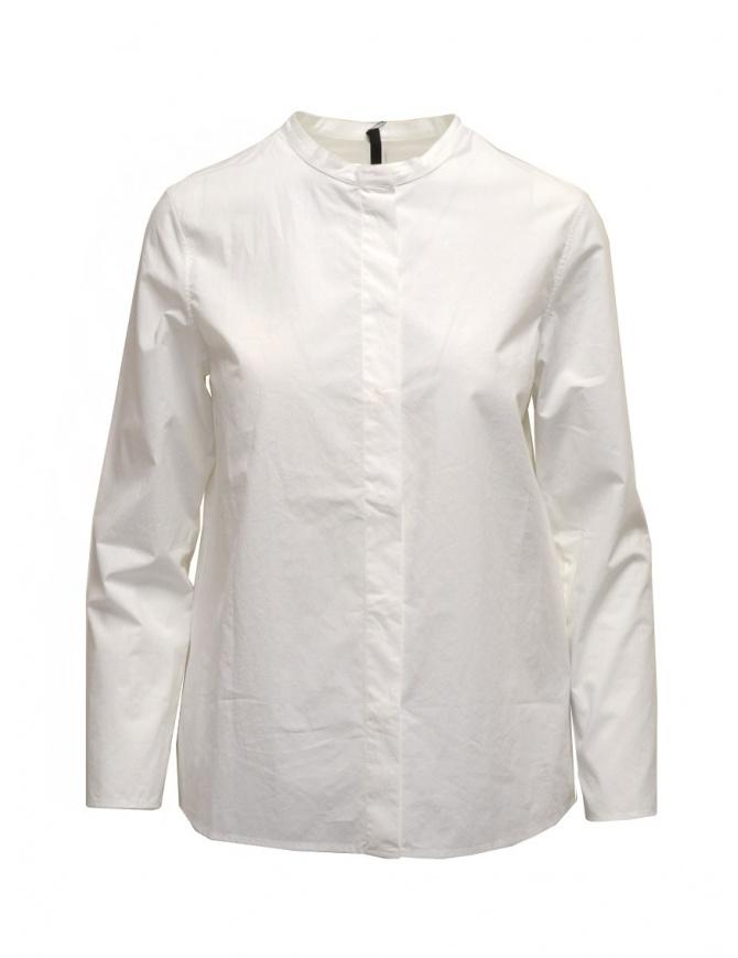 Sara Lanzi white shirt with Mandarin collar 06G.CO3.01 OPT.WHITE womens shirts online shopping