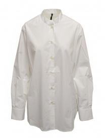 Sara Lanzi oversized white shirt with mandarin collar online