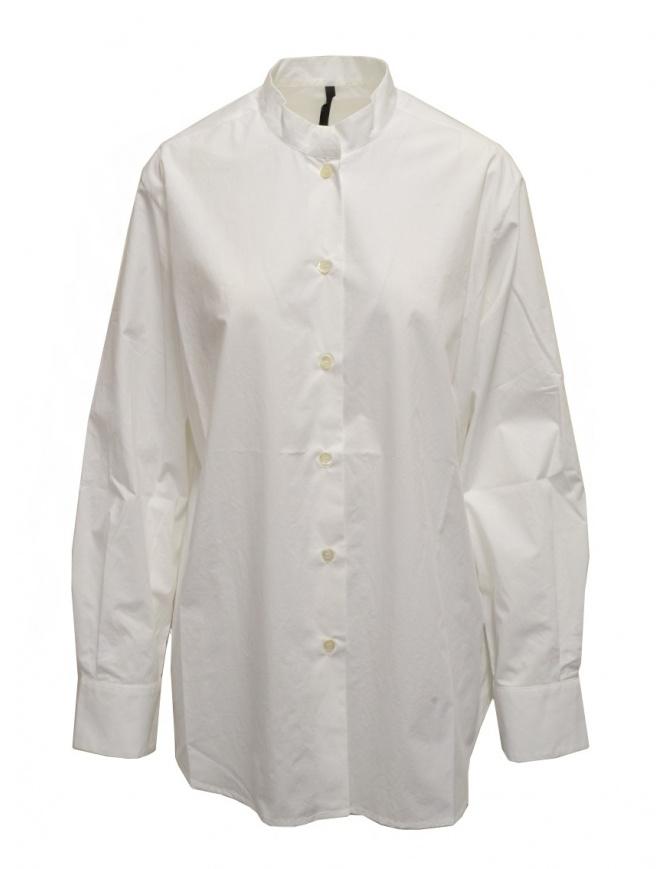Sara Lanzi oversized white shirt with mandarin collar 05G.CO3.01 OPT.WHITE womens shirts online shopping