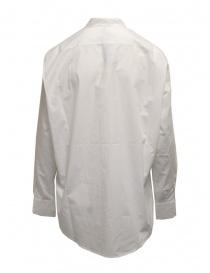 Sara Lanzi oversized white shirt with mandarin collar