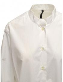 Sara Lanzi oversized white shirt with mandarin collar price