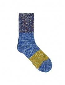 Kapital Van Gogh socks melange blue, purple, green online
