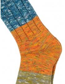 Kapital calzini a righe orizzontali blu, arancio, verdi