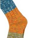 Kapital blue, orange, green horizontal striped socks shop online socks