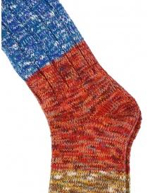 Kapital Van Gogh socks in melange red, blue, beige
